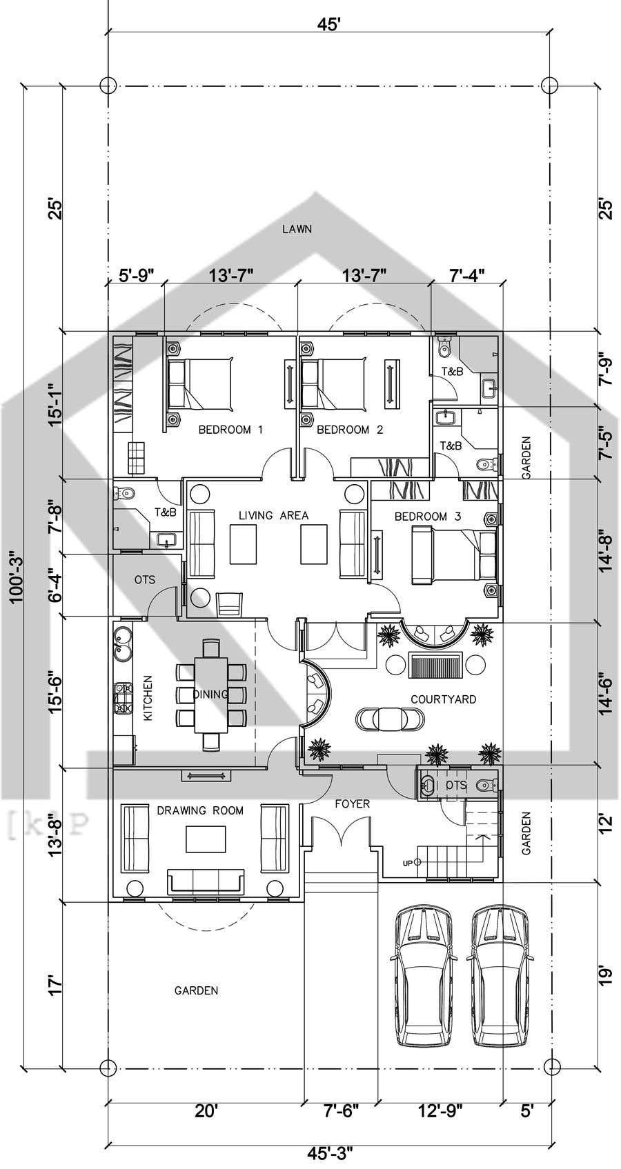 Proposition n°                                        52                                      du concours                                         Build me 2D Floor Plan for 2 Floor house!