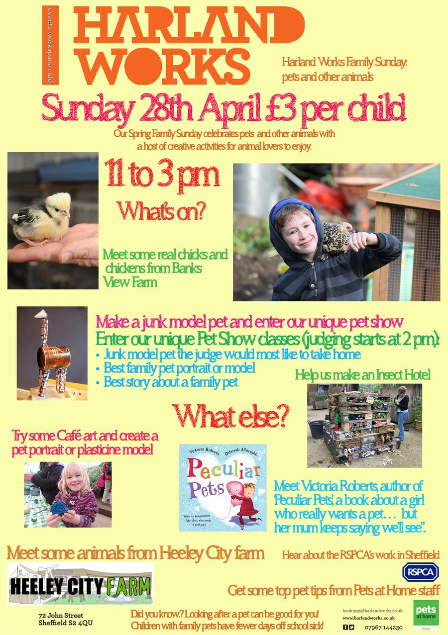 Contest Entry #17 for Flyer Design for Harland Works Spring Family Sunday