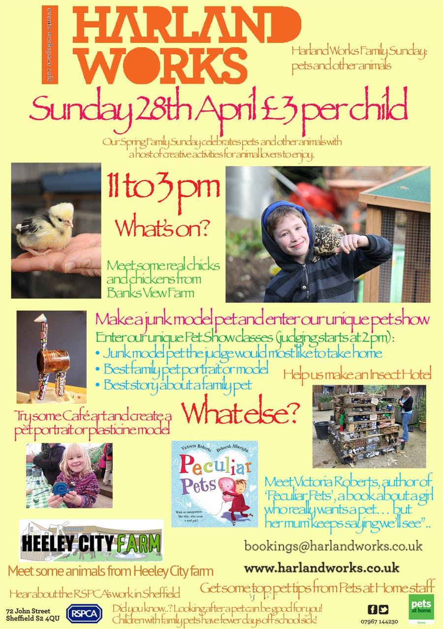 Inscrição nº 20 do Concurso para Flyer Design for Harland Works Spring Family Sunday