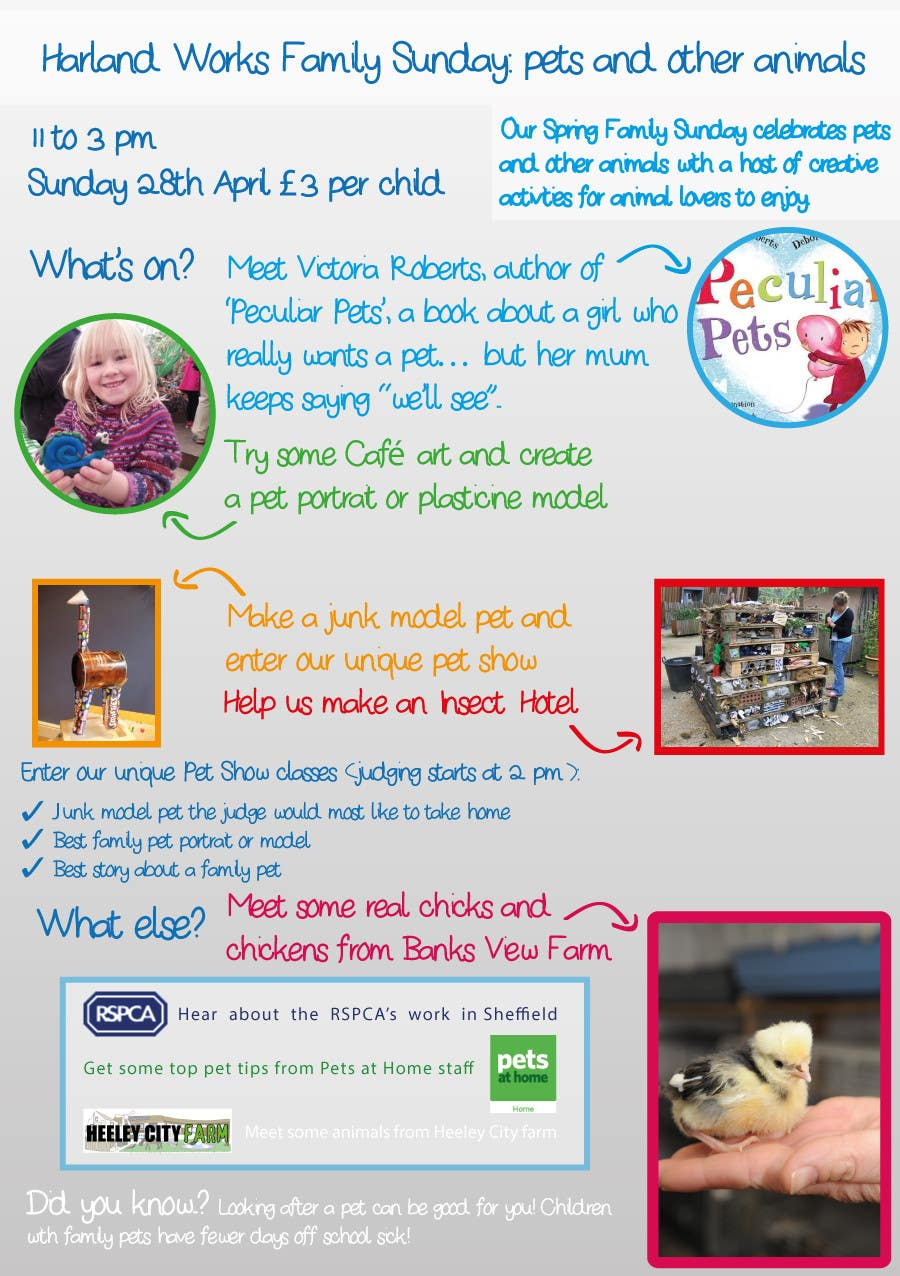 Contest Entry #                                        5                                      for                                         Flyer Design for Harland Works Spring Family Sunday