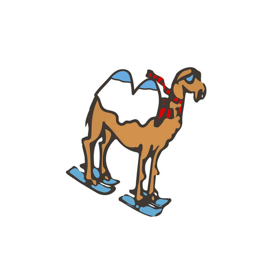 Contest Entry #                                        20                                      for                                         Design for Hoodie (Snowboarding Camel with mountains as humps)