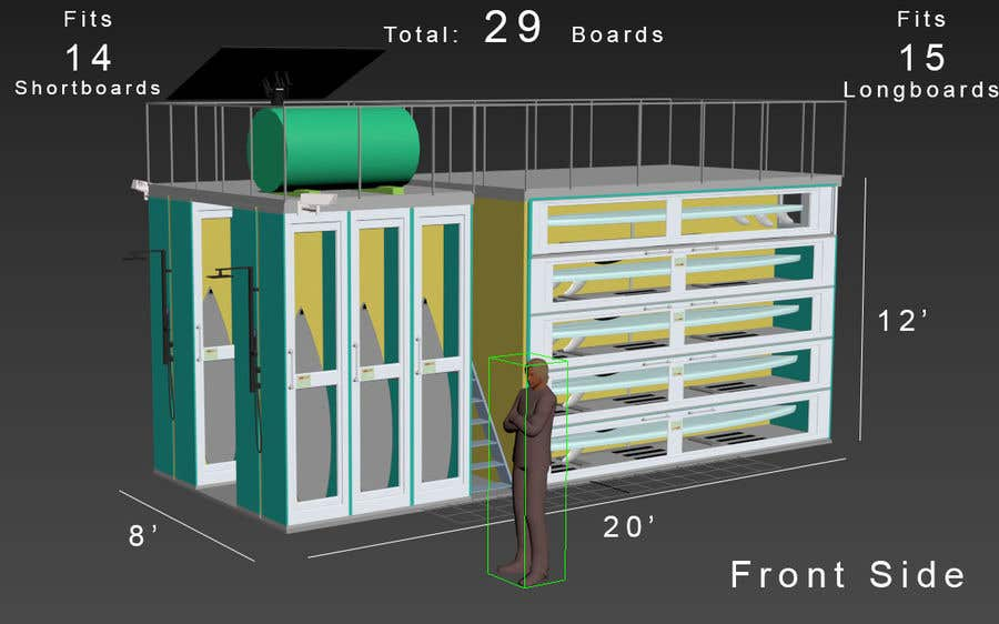 Proposition n°                                        22                                      du concours                                         Design a Surfboard Locker for the Sharing Economy