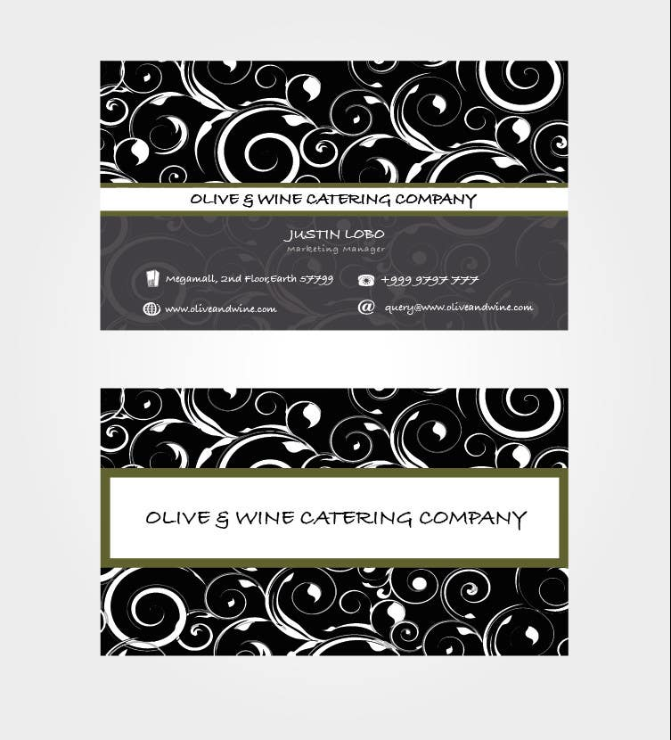 Print Contest Entry #43 for Business Card Design for Catering Company
