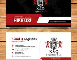 #304 for Business Card Design.... K and Q logistics LLC --- Logo Included by abigailyoselin20