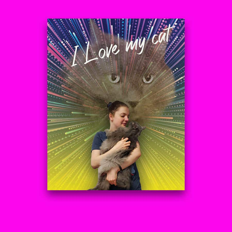 Contest Entry #                                        100                                      for                                         Cheesy Cat Picture with my Wife.