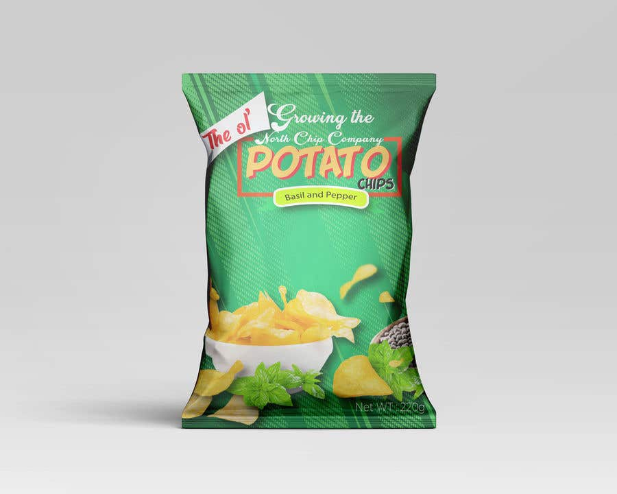 Contest Entry #                                        60                                      for                                         Need a packet of chips designed. Front and back.