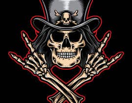 #59 untuk Logo for Gaming / Streamer - Skeleton, Logo, Baseball Bat, Rocker, Sons of Anarchy like oleh MAEDITZ24