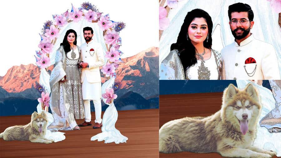 Penyertaan Peraduan #                                        6                                      untuk                                         Wedding Card Illustration