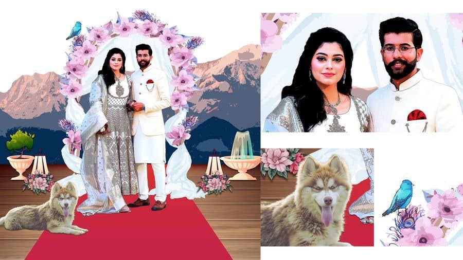 Penyertaan Peraduan #                                        9                                      untuk                                         Wedding Card Illustration