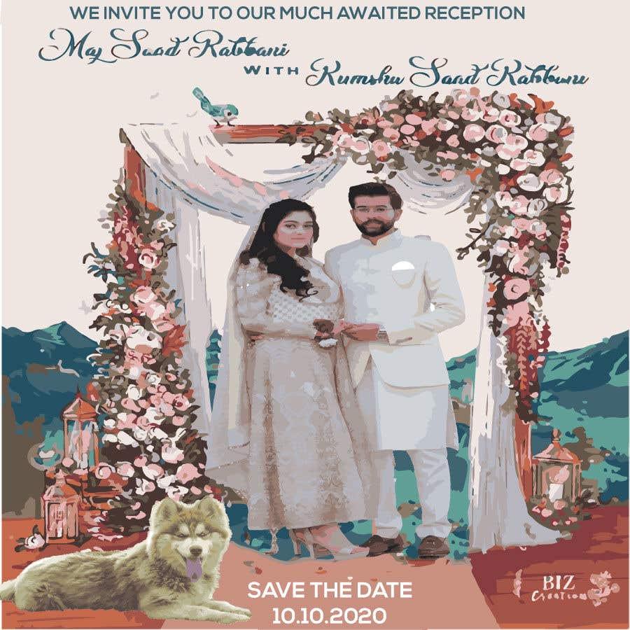Penyertaan Peraduan #                                        47                                      untuk                                         Wedding Card Illustration