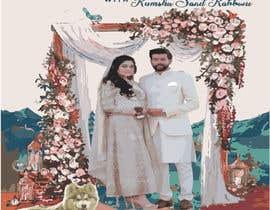 #47 untuk Wedding Card Illustration oleh Mahfuz156