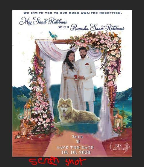 Penyertaan Peraduan #                                        46                                      untuk                                         Wedding Card Illustration