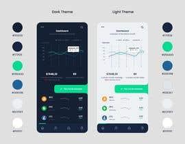 #36 for Finance Dashboard Single Page Mockup Design and Color Palette af Jamalmun