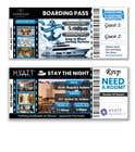 Invitation to Exclusive Event - Boarding Pass Style için Graphic Design80 No.lu Yarışma Girdisi