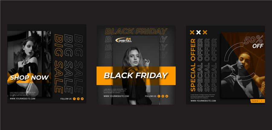 Contest Entry #                                        62                                      for                                         Create 3 banner for: black friday, Stock and offers