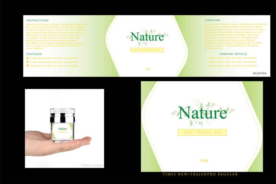 Contest Entry #                                        73                                      for                                         Label for a cosmetic product