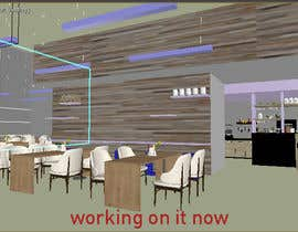 #4 for 2 renders for the interior of a restaurant by bhaveshtex88