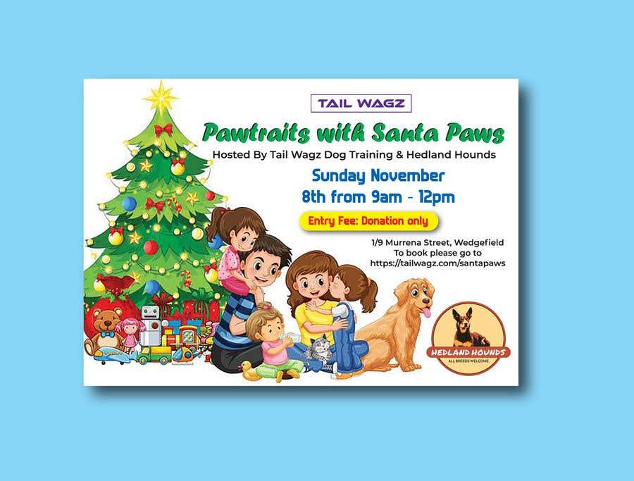 Kilpailutyö #                                        65                                      kilpailussa                                         Brochure to advertise dog christmas event