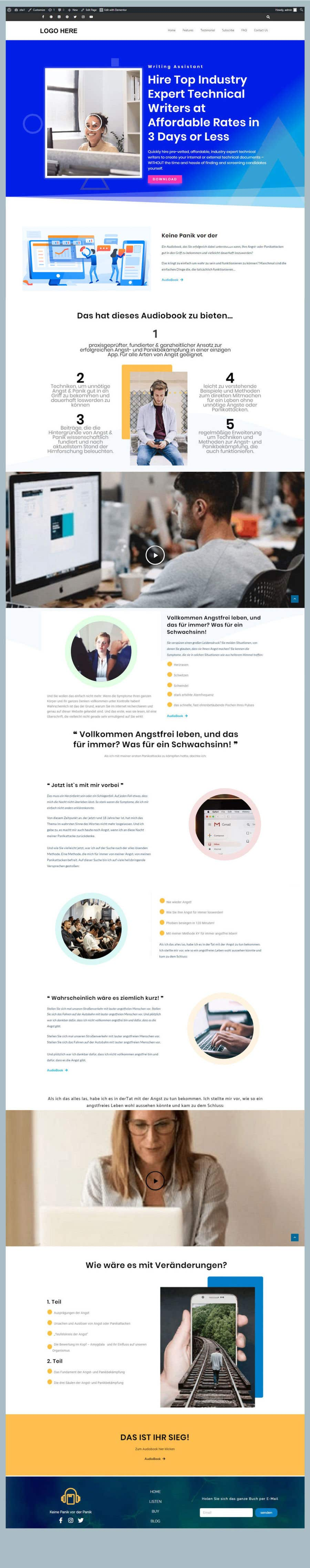 Contest Entry #                                        2                                      for                                         redesign and optimize clickfunnels lead page