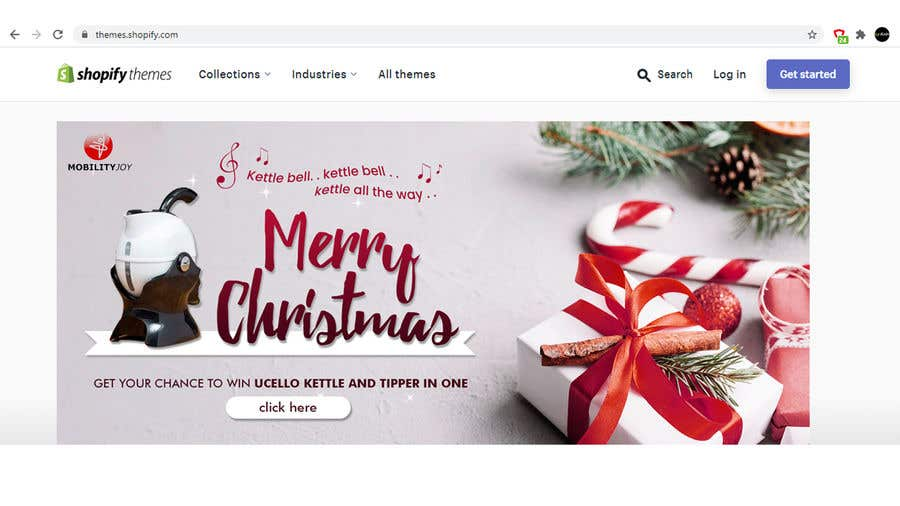Contest Entry #                                        21                                      for                                         Graphic Designer + Shopify skills: Design Christmas banners for website (Shopify) Gifts ideas