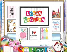 #11 for Design a Printable Backdrop for English Teacher by ahmedsiamXI