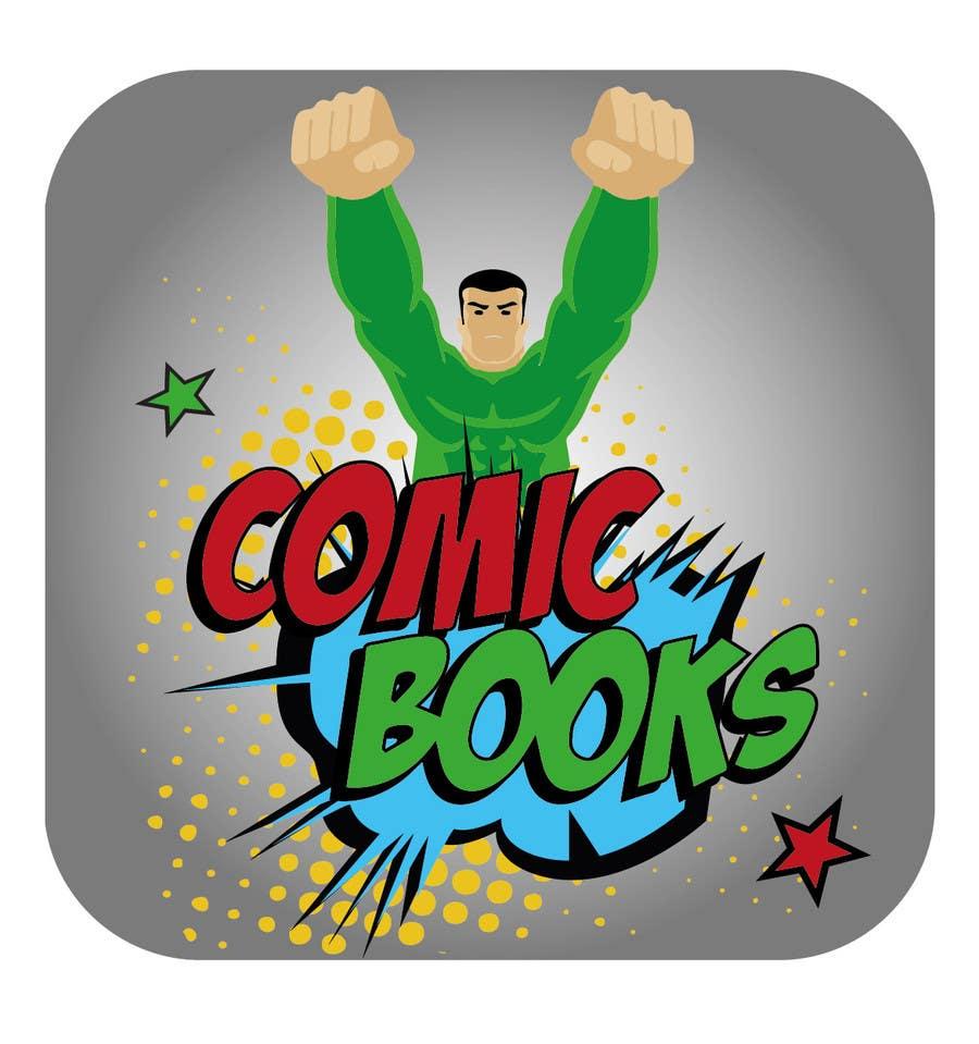 Inscrição nº                                         8                                      do Concurso para                                         Icon or Button Design for iOS comic book icon