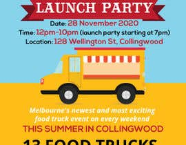 #8 for A6 event invitation for food truck launch party by mohammadtwaha