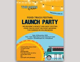#10 for A6 event invitation for food truck launch party by miloroy13