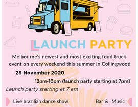 #9 for A6 event invitation for food truck launch party by KaziShadhin28