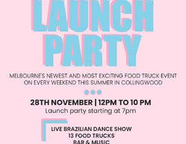 #5 for A6 event invitation for food truck launch party by deepakkerkar12