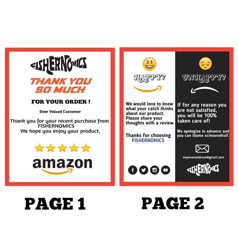 Penyertaan Peraduan #                                        53                                      untuk                                         Help design my thank you card for Amazon