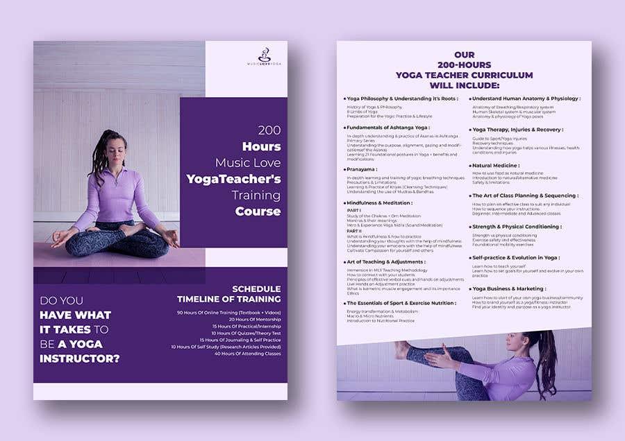 Kilpailutyö #                                        37                                      kilpailussa                                         Design a clean yoga teacher brochure