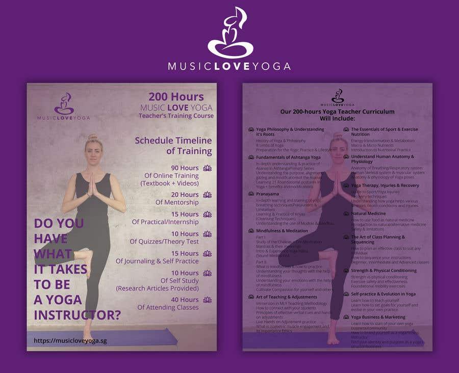 Kilpailutyö #                                        44                                      kilpailussa                                         Design a clean yoga teacher brochure