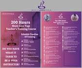 Graphic Design Kilpailutyö #20 kilpailuun Design a clean yoga teacher brochure