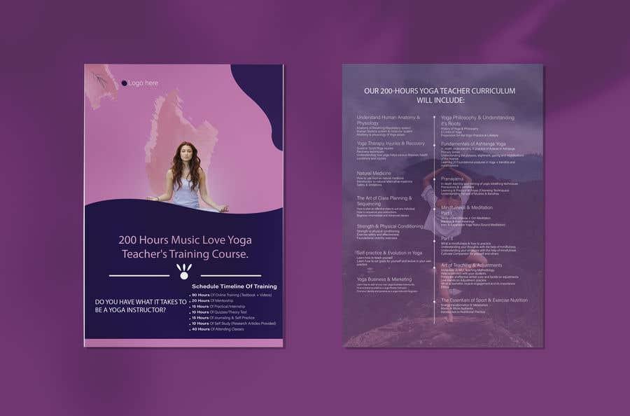 Kilpailutyö #                                        71                                      kilpailussa                                         Design a clean yoga teacher brochure