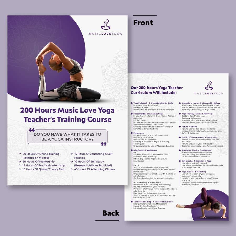 Kilpailutyö #                                        9                                      kilpailussa                                         Design a clean yoga teacher brochure