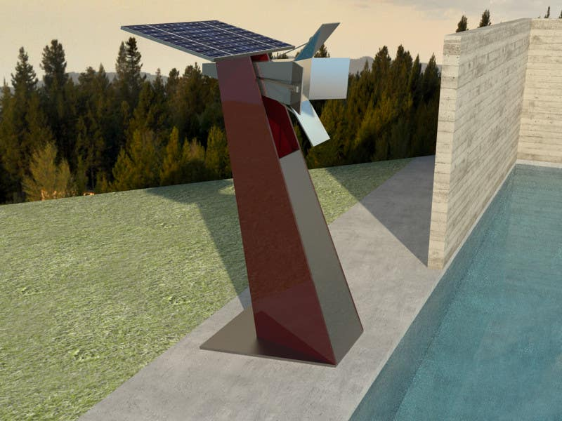 Contest Entry #7 for Do some 3D Modelling for a solar reflector with 4 panels