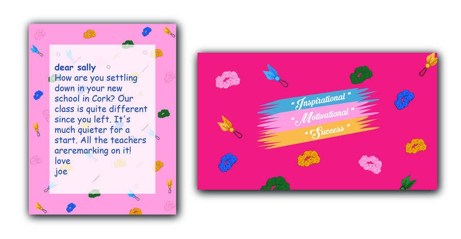 Contest Entry #                                        30                                      for                                         Letter Template & Hair Scrunchie Packaging
