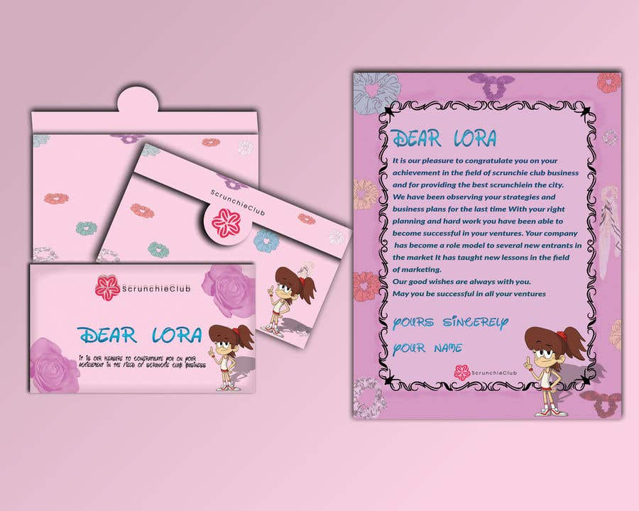 Contest Entry #                                        37                                      for                                         Letter Template & Hair Scrunchie Packaging