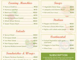 Nro 31 kilpailuun Design a Health Food Menu Card for Farmtable Restaurant käyttäjältä sdthemes