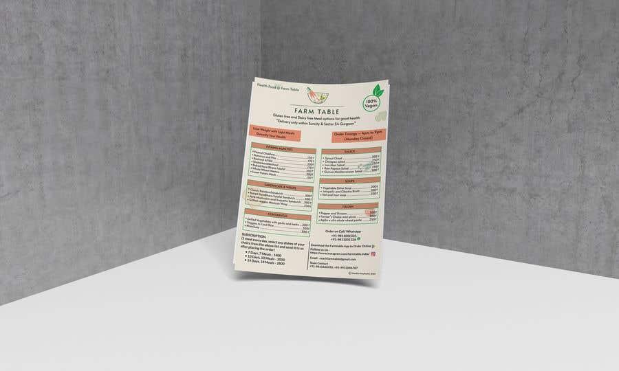 Kilpailutyö #                                        9                                      kilpailussa                                         Design a Health Food Menu Card for Farmtable Restaurant