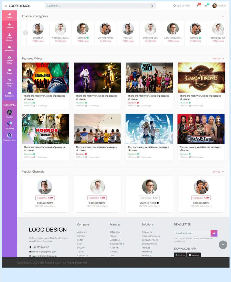 Contest Entry #                                        16                                      for                                         Redesign Pinterest UI/UX Homepage/Profile page