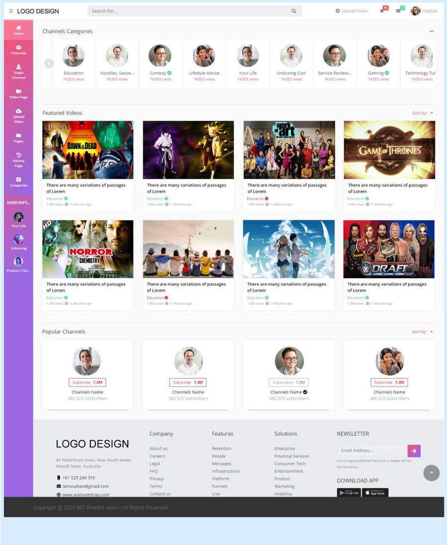 Kilpailutyö #                                        16                                      kilpailussa                                         Redesign Pinterest UI/UX Homepage/Profile page