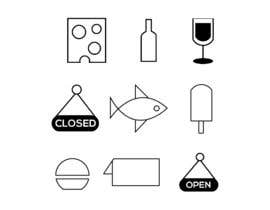 #364 for Restaurant Icon set by freelancerrase21