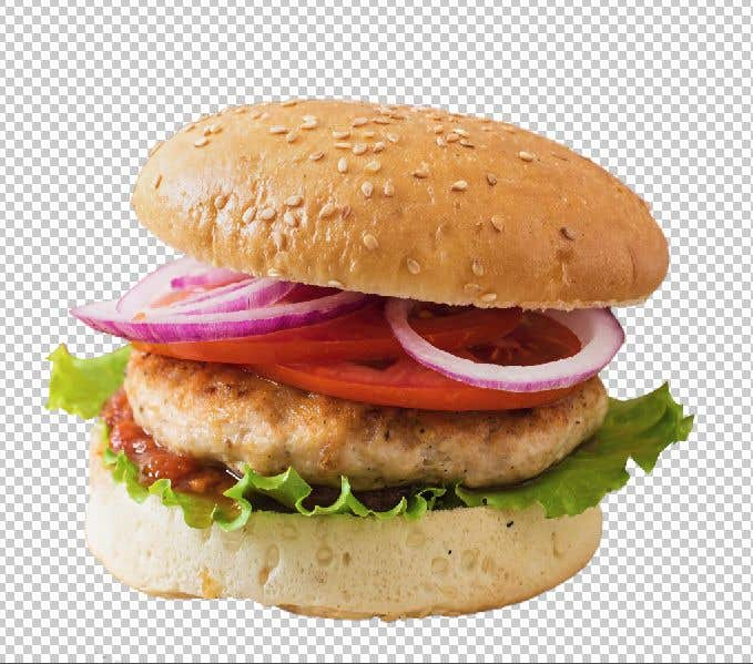 Penyertaan Peraduan #                                        2                                      untuk                                         CUT OUT BURGER PHOTO - DETAIL CLOSE - SAVE AS ZIP'ed TIF FILE or PNG - I NEED FAST!
