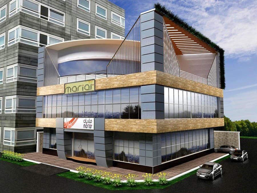 Entri Kontes #                                        35                                      untuk                                        Elevations for an office building