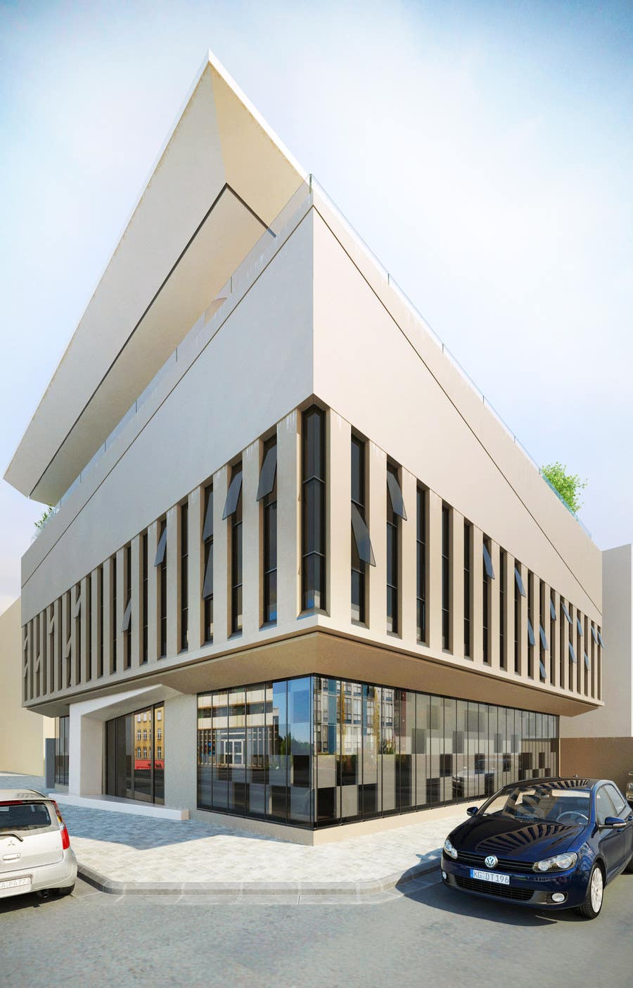 Entri Kontes #                                        29                                      untuk                                        Elevations for an office building