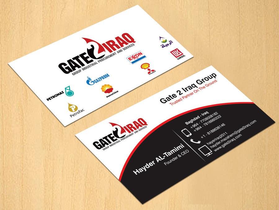 Bài tham dự cuộc thi #43 cho Design some Business Cards for Gate2Iraq Group