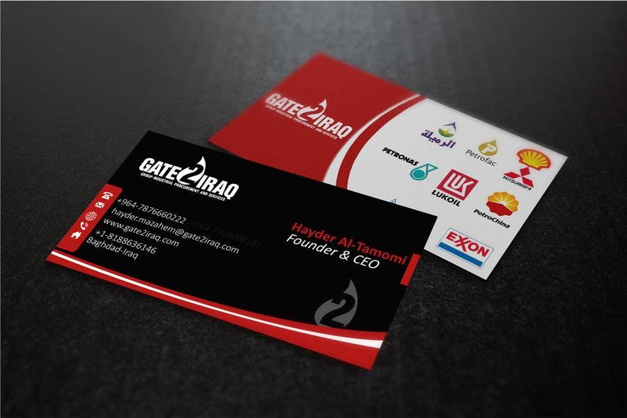 Penyertaan Peraduan #16 untuk Design some Business Cards for Gate2Iraq Group