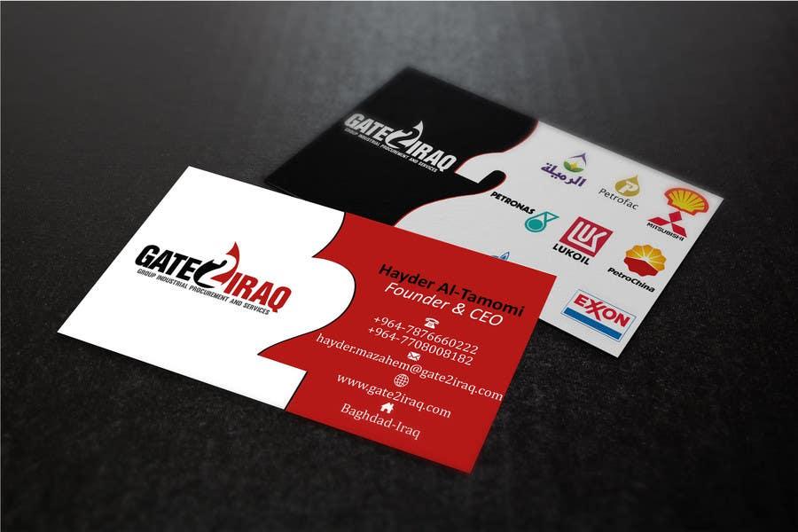 Bài tham dự cuộc thi #18 cho Design some Business Cards for Gate2Iraq Group